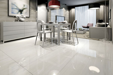 Typically stains and water cannot penetrate tile flooring because of its permeability